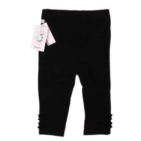 Babyleggings svart Walking bambu newborn